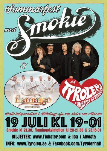 Sommarfest med Smokie och Flamingokvintetten 19 juli